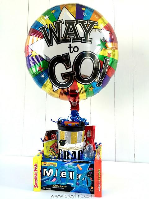 DIY Grad Gift - Candy Treat & Centerpiece - LeroyLime