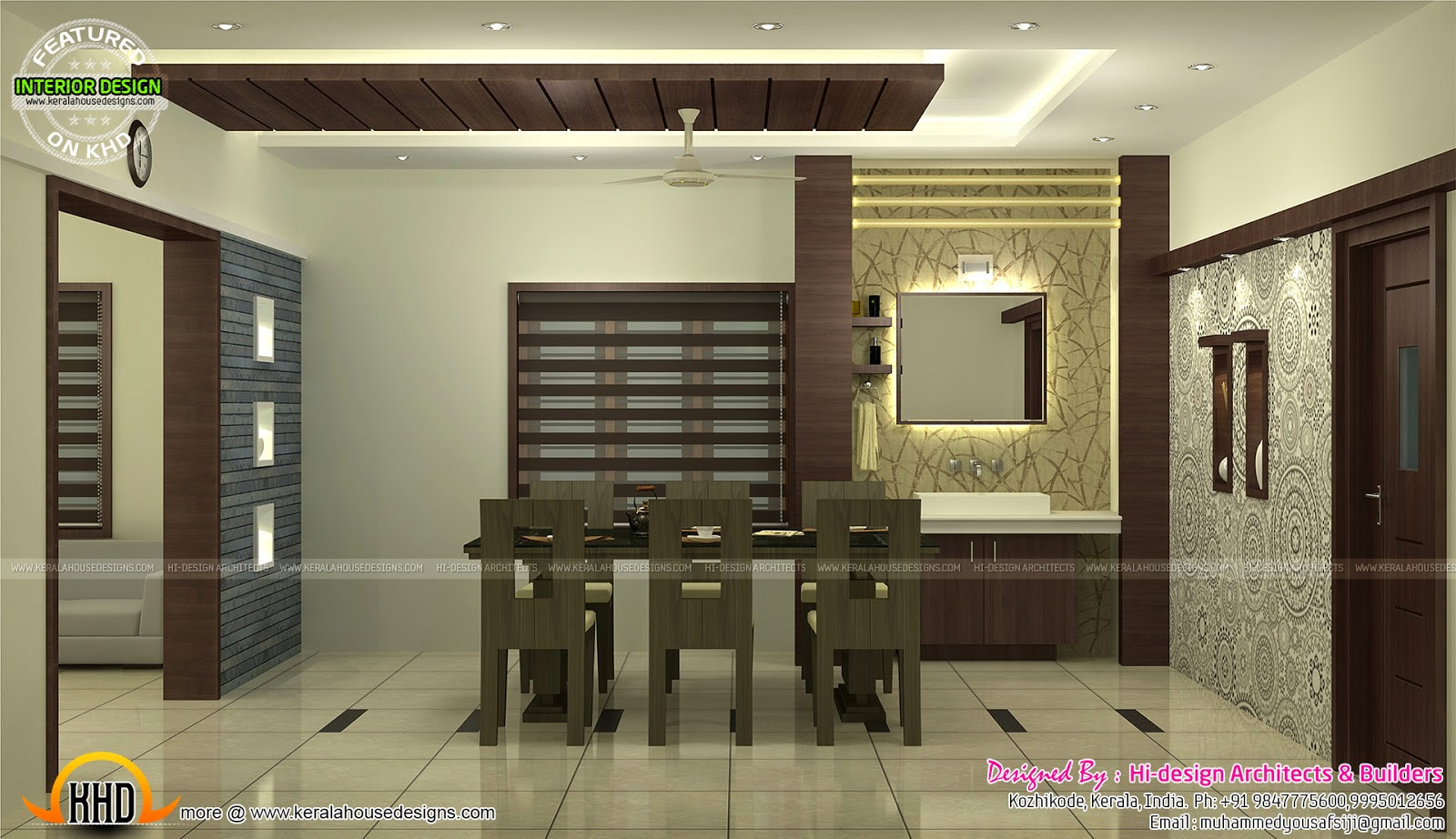 Interior : Bed room, living room, dining, kitchen - Kerala ...