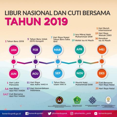 Cuti Bersama dan Hari Libur Nasional Terbaru Hari Libur Nasional dan Cuti Bersama Tahun 2019