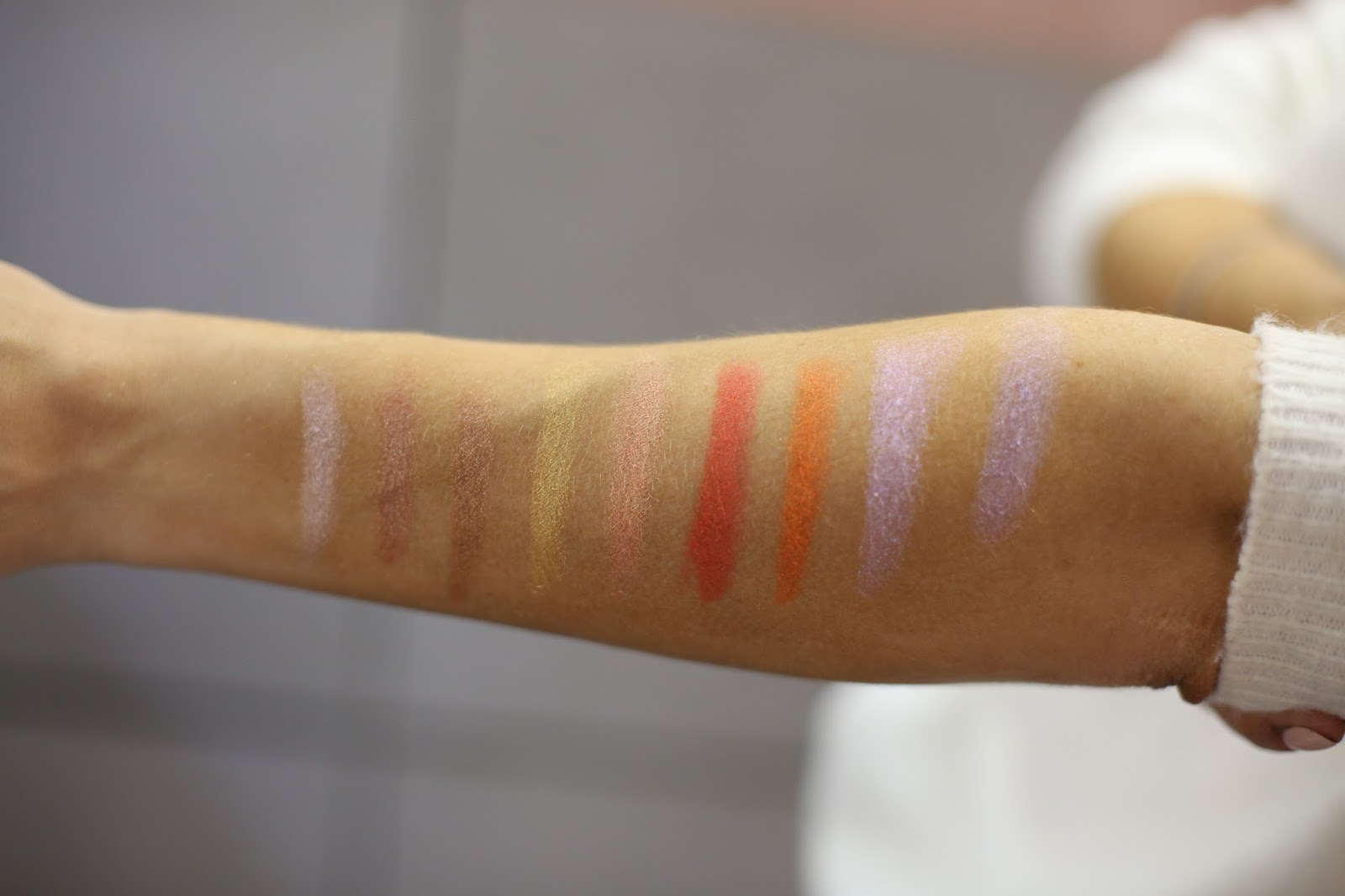 Swatches of Fenty Match Stix Skinsticks shimmer