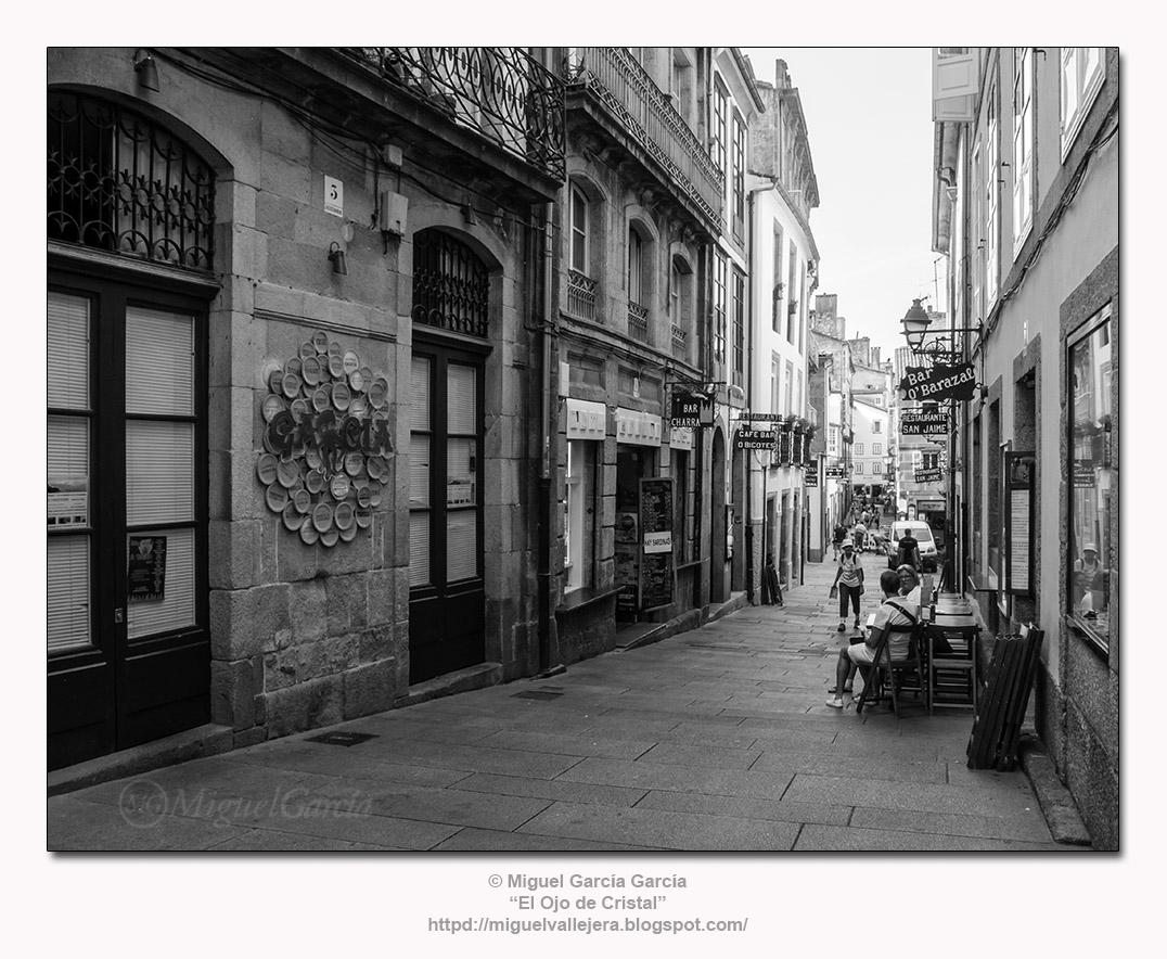 Rúa da Raíña, Santiago de Compostela.