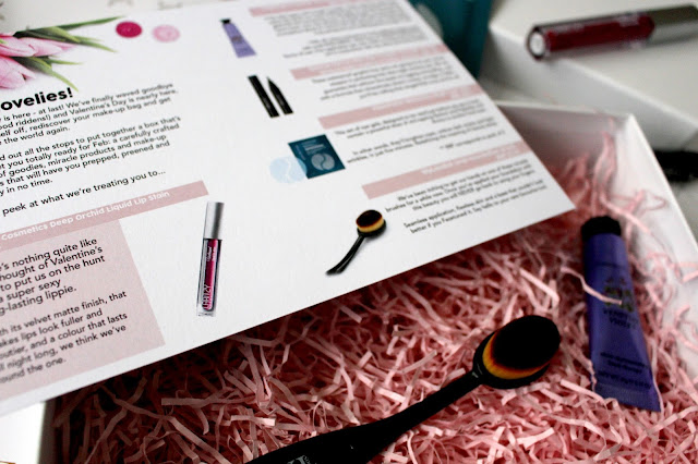Roccabox, valentine's day, crabtree and evelyn, liquid lip stain, handcream, makeup brushes, danielle levy,