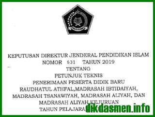 Juknis PPDB Madrasah 2019