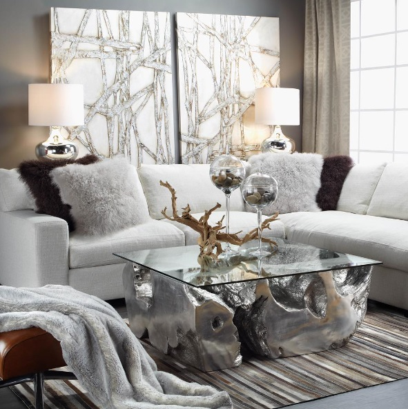Modern Glam Pillows : Lush Fab Glam Blogazine: Modern Home Decor Trends: Shades Of Grey.