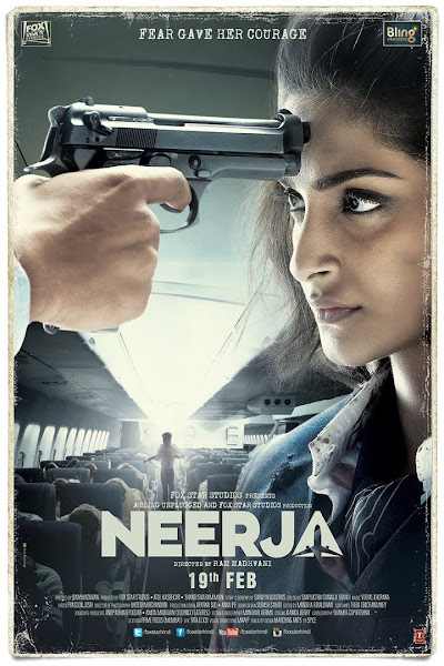 Poster Of Neerja 2016 Hindi DVDScr Full Movie Watch Online And Download