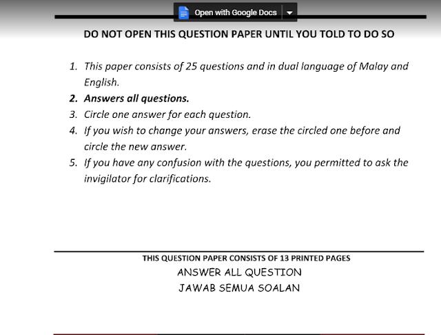 Soalan Ppt Bahasa Melayu Format Kssm Tingkatan 1 - Persoalan v