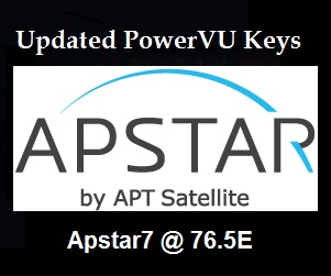 All Updated Channels PowerVu Keys Frequency on Apstar7 @ 76.5E