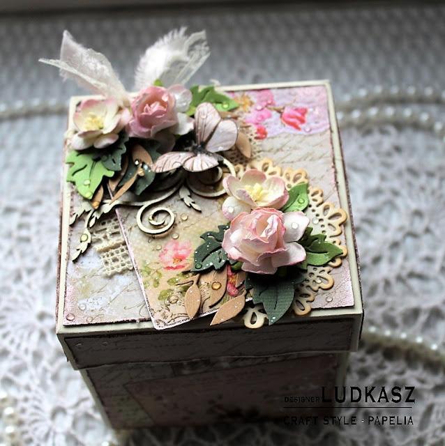 Urodzinowy exploding box  – DT Papelia