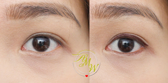 a before and after photo of Pink Sugar Honey, I'm Good Duo Eyeliner