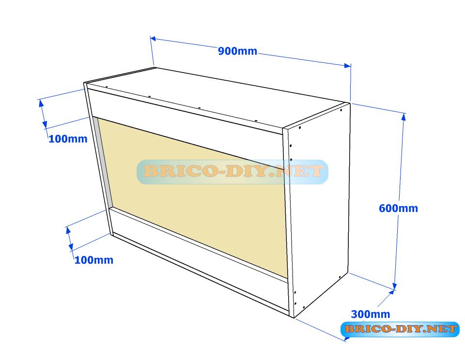 Muebles de cocina plano de alacena de melamina esquinera for Estructura de cocinas modernas