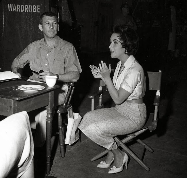 Richard Brooks On The Set With The Director Writer Of In