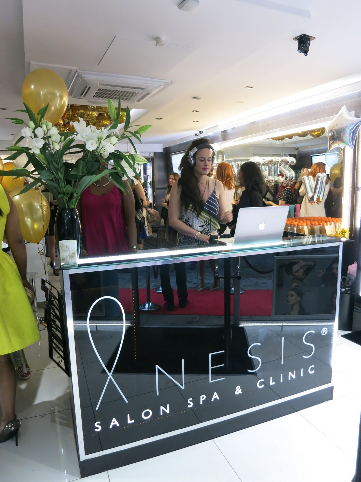 anesis tv launch party, anesis spa clapham