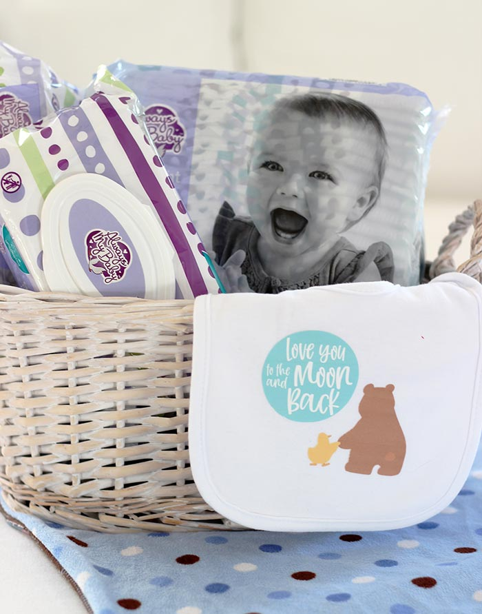 How to Make a Cute & Practical DIY Baby Gift (FREE Cricut