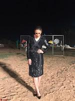 Neha Dhupia in Rohit Gandhi Rahul Khanna dress, Dior earrings (2) ~ .jpeg