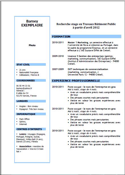 cv et lettre de motivation gratuit pdf