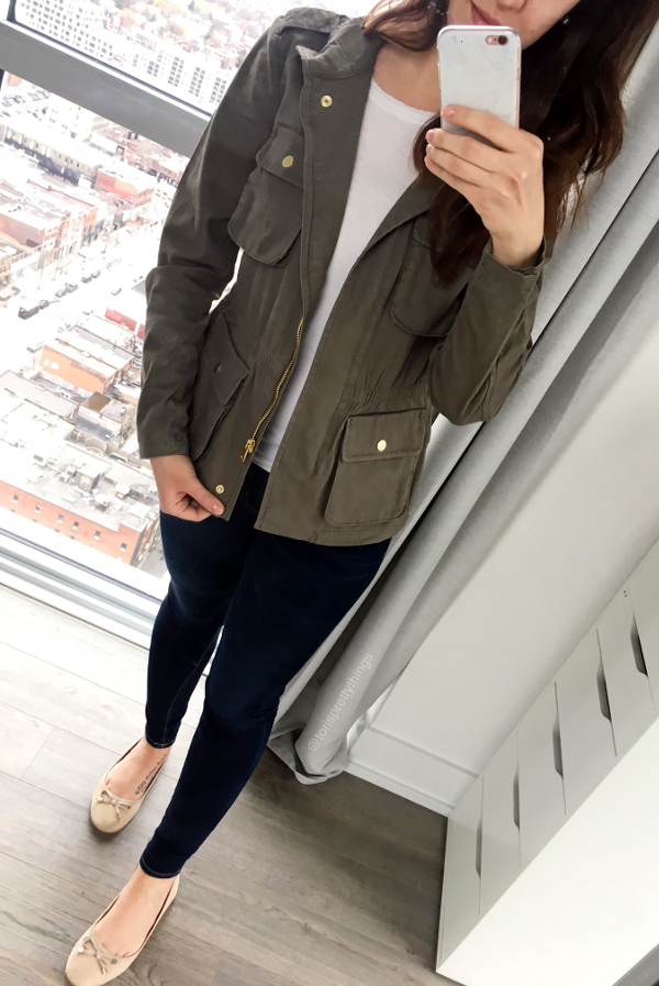 Spring Utility Jacket Outfit - Tori's Pretty Things Blog