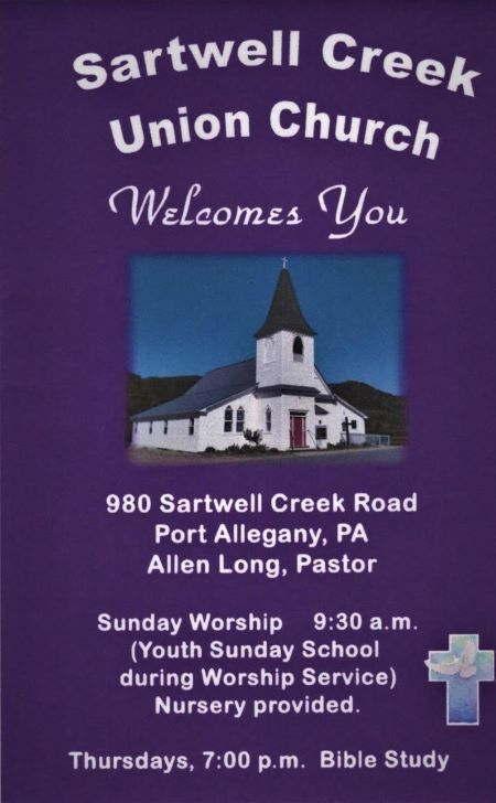 Sartwell Creek Union Church Starting Times
