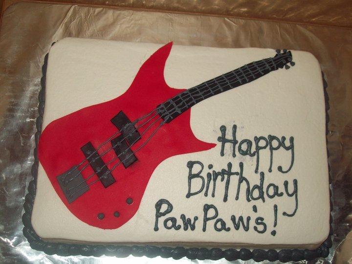 BB Cakes bass guitar cake