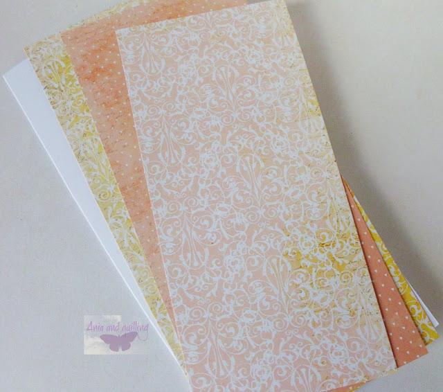 trzy warstwy papieru na kartkę