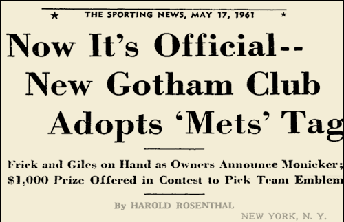a9946db26bd The name Metropolitans then sat unused for nearly a century until New  York's 1962 expansion team, replacing the departed Giants and Dodgers, ...