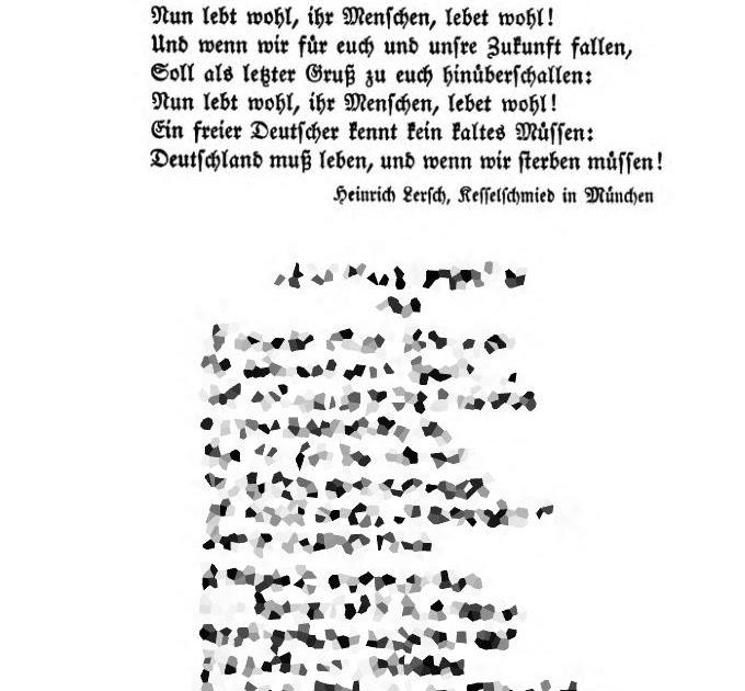 Epoesie Heinrich Lersch Soldaten Abschied 1914