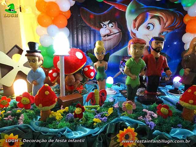 Mesa decorada festa Peter Pan