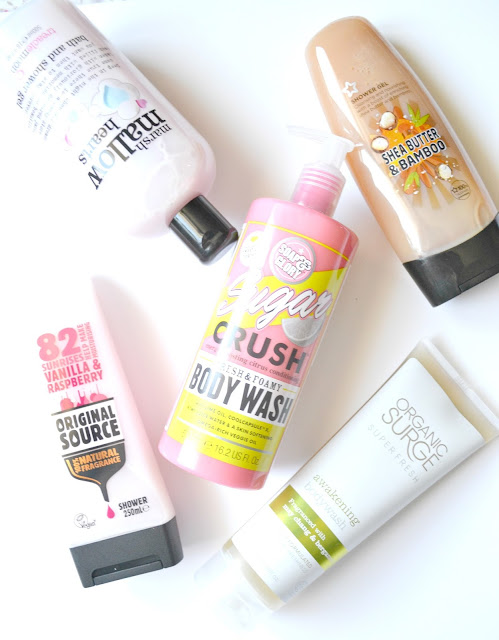 Cruelty-free, vegan bath and shower gels