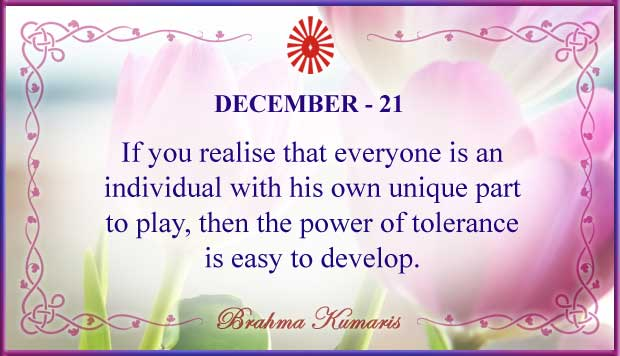 Thought For The Day December 21