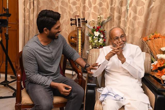 Allu arjun meets Director K Viswanath garu