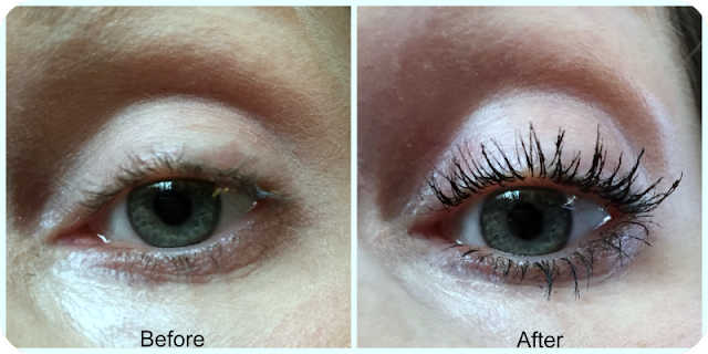 before and after maybelline the falsies push up angel mascara