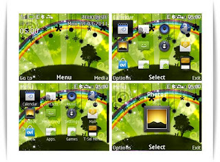 Abstract green theme C3-00 X2-01 Asha 200 Asha 302 Asha 201