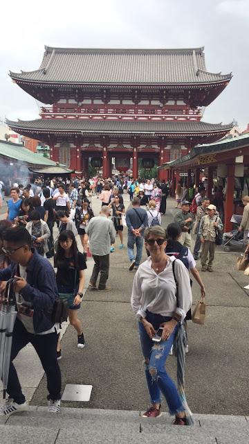 In Asakusa in from of Sensoji Temple