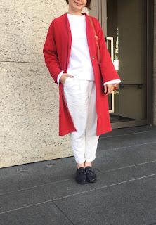 午後的費南雪有機棉長版外套看看老幫手怎麼搭