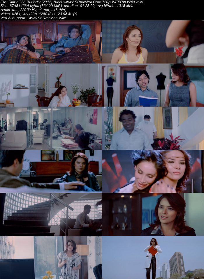 Diary Of A Butterfly (2012) Hindi 720p WEBRip x264 800MB ESubs Movie Download