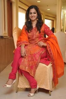 Actress Nanditha Stills in Salwar Kameez at Savitri Movie Success Meet 0098