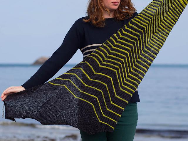 châle spectrum de Joji Locatelli en laine La Fée Fil