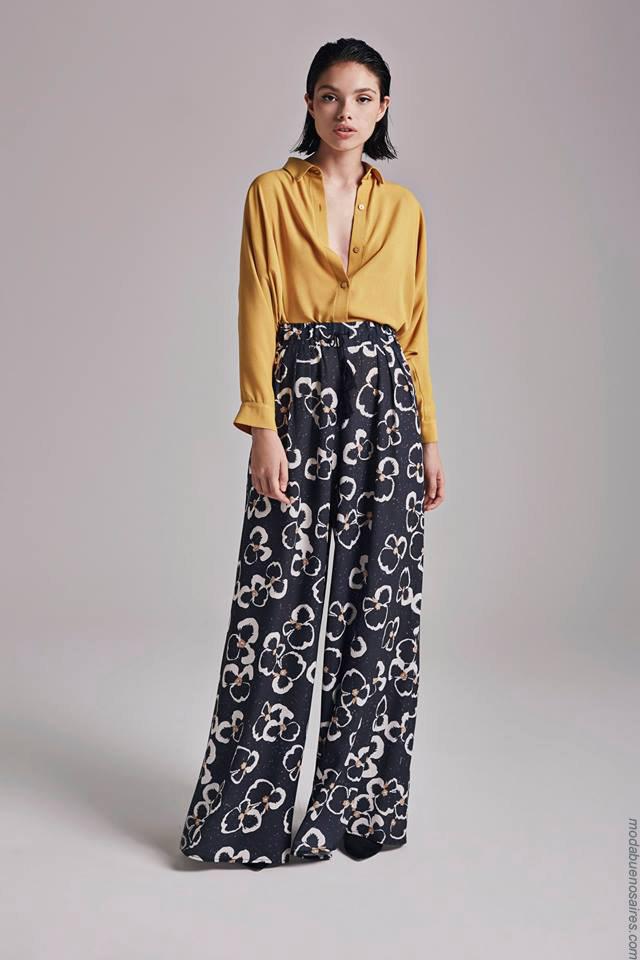 Moda otoño invierno 2019 ropa de mujer elegante y femenina. PAntalones palazzo invierno 2019.