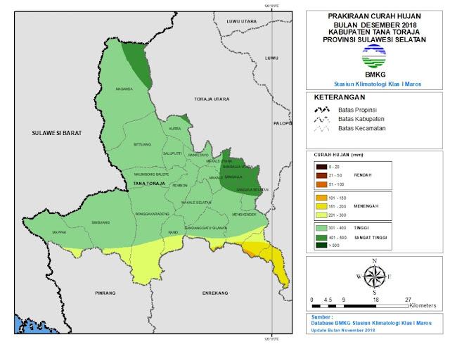 Masuki Bulan Desember, BMKG Ingatkan Akan Tingginya Curah Hujan, Terutama di Sangalla