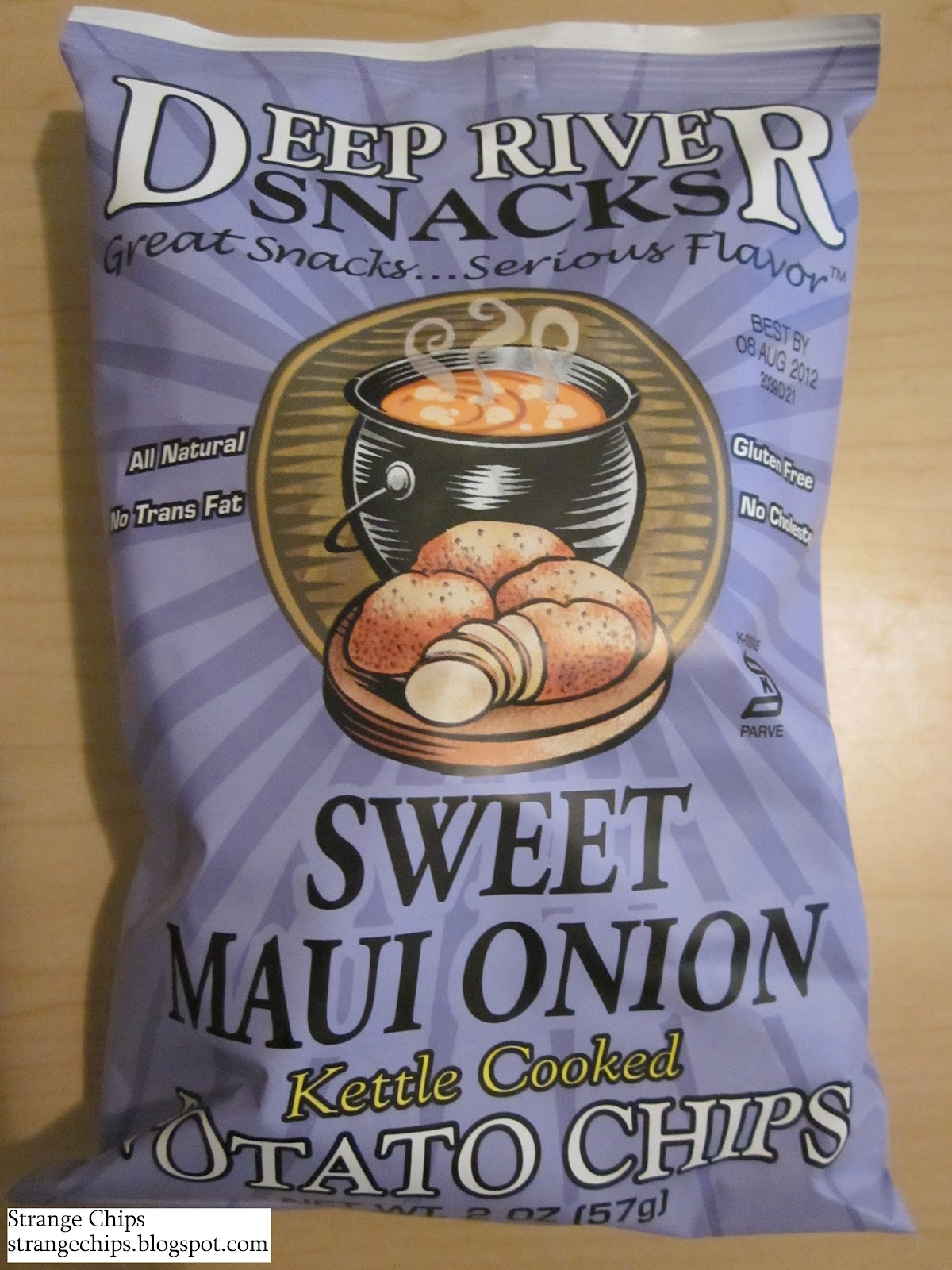 Strange Chips Deep River Snacks Sweet Maui Onion