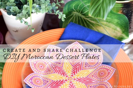 DIY Moroccan Dessert Plates with GraphicStock: Create and Share Challenge