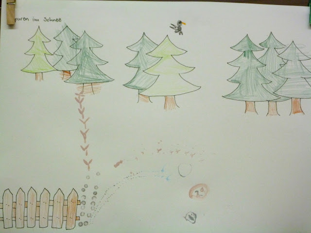Kindergarten Spuren von Tieren