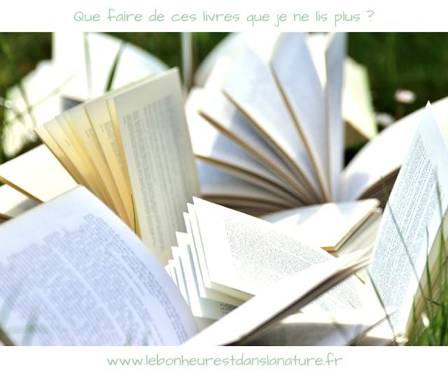 don vente troc recyclage de livre que je ne lis plus minimalisme zero dechet