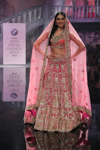 Pernia Qureshi in Bridal Lehenga Choli by Sumeet Varma