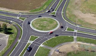 Bundaran Persimpangan tak Bersinyal