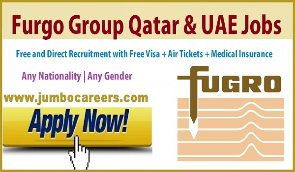 Engineer jobs in Qatar & UAE, Abu Dhabi Furgo Group job vacancies,