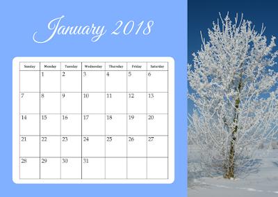 2018 Calendar - free printable