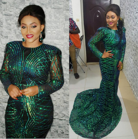 Photos: Mercy Aigbe's looking good to City People Awards