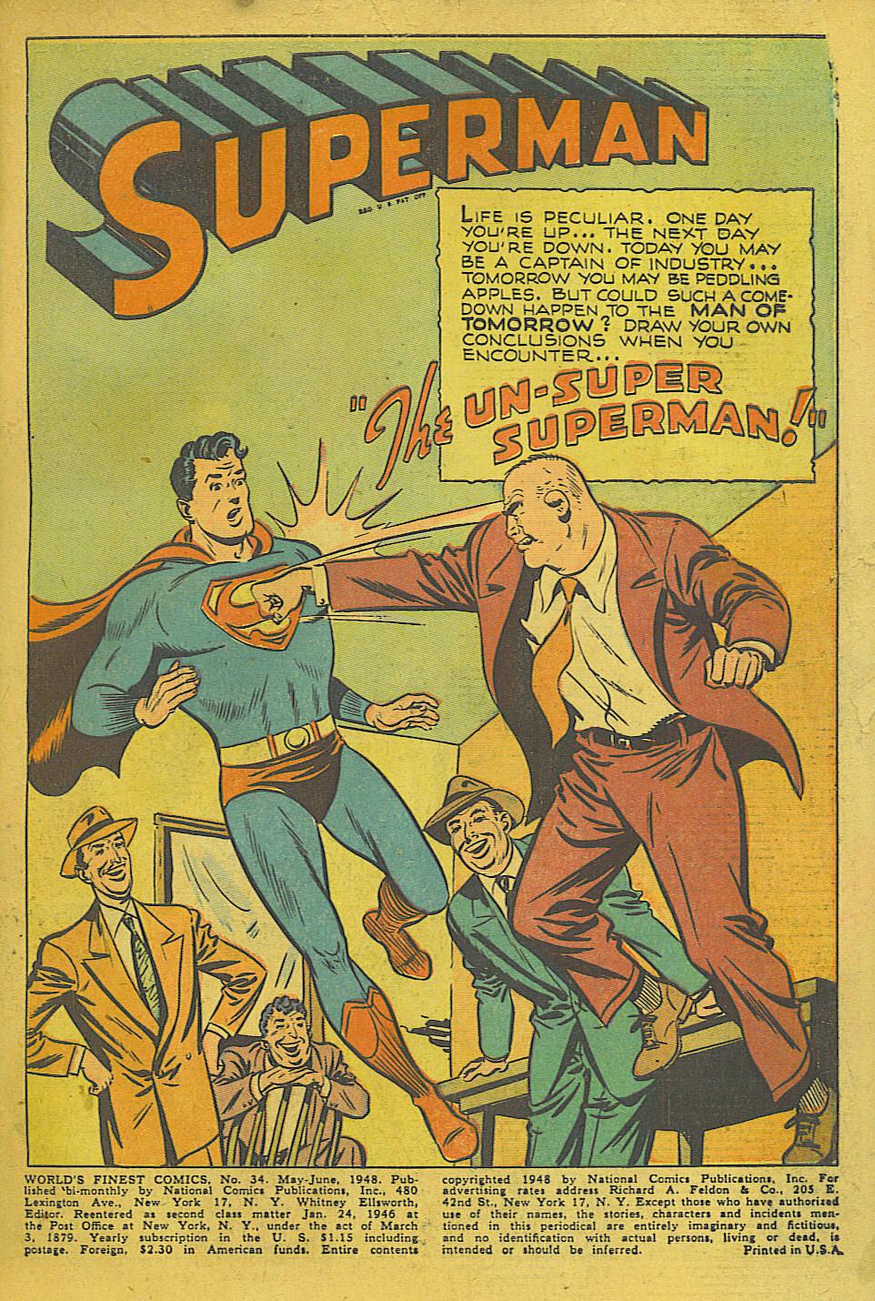 Read online World's Finest Comics comic -  Issue #34 - 3
