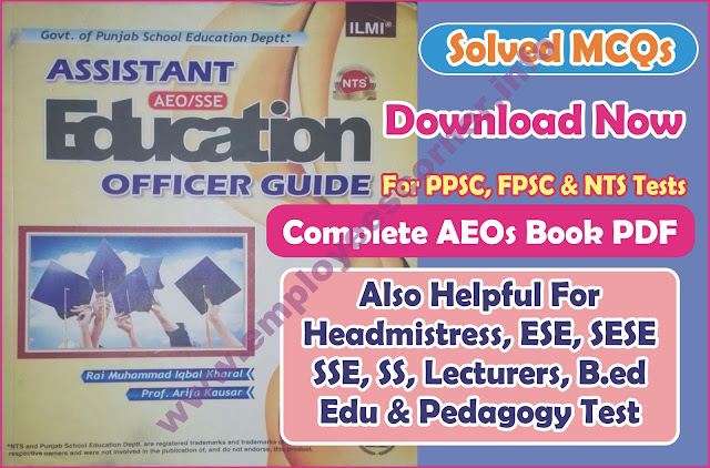 NTS AEOs Book MCQs with Answer in PDF