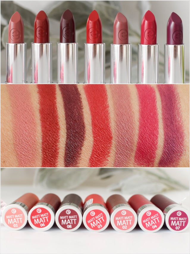 essence, range update for autumn / Winter 2016, matt matt matt lipstick, swatch